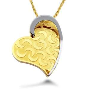 Steel Yellow Gold Plated Heart Pendant West Coast Jewelry Jewelry