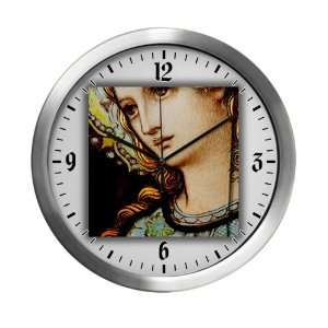 Modern Wall Clock Mother Mary Stained Glass Everything