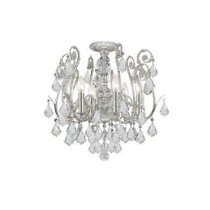 Lighting Paris Flea Market Collection Olde Silver Finish 6 Lights Wall