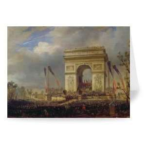 Fete de la Fraternite at the Arc de..   Greeting Card