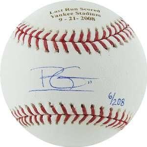 Brett Gardner Signed Ball   with Last Run Scored Yankee Stadium 9 21