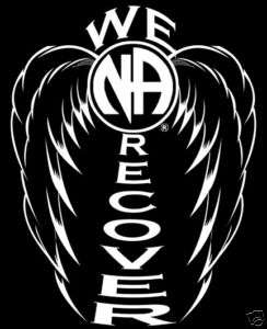 Narcotics Anonymous   NA Wing   We Recover T Shirt