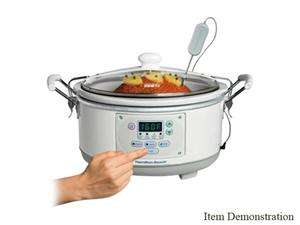 Hamilton Beach 33956 White Set n Forget 5 Qt. Programmable Slow