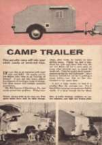 How To Build Vintage Camper Trailer Tear Drop Plans CD