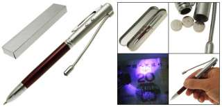 Pen w. White LED & UV Light Money Detector, Writing Ballpoint