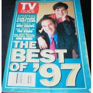 TV Guide December 20 1997 Best of ,97 Katie Couric & Matt