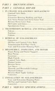 1962 FORD FALCON TRANSMISSION REBUILD ADJUST MANUAL