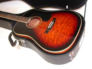 Washburn D10 Quilted Maple Top Acoustic Guitar,Sunburst