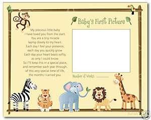 JUNGLE SAFARI ANIMALS 8x10 BABY ULTRASOUND POEM PRINT