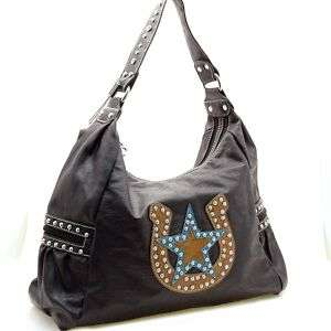 COUNTRY ROAD B RHINESTONE HORSESHOE STAR WESTERN PURSE
