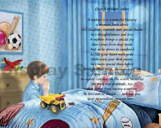 Gift For Nephew Personalized Poem Birthday Or Christmas Gift Bedtime