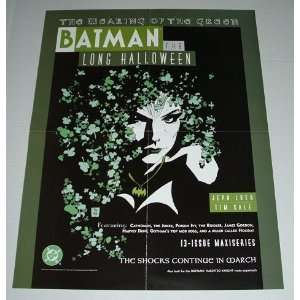 1997 Batman Foe Poison Ivy 22 by 17 Inch Promo Poster: The