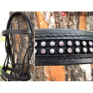 New English Bridle With Sparkling Crystals Rhinestones