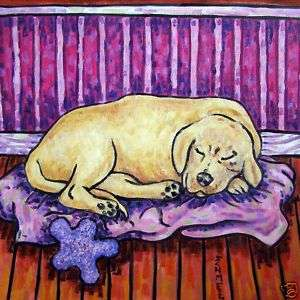 GOLDEN RETRIEVER SLEEPING animal dog art ceramic tile