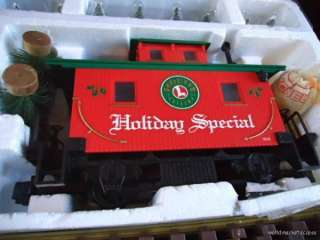 HOLIDAY SPECIAL LARGE SCALE Electric Christmas TRAIN SET in BOX