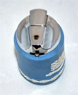 Blue & White Jasperware Table Lighter W/ City of London Crest