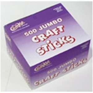 Chenille Kraft Company Jumbo Craft Sticks 500 Pieces Natrl Crafts