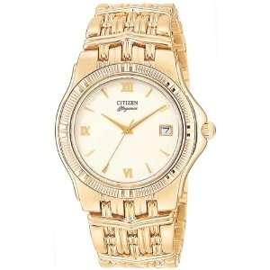 Citizen Elegance Signature Mens Gold Watch w/Date, Water