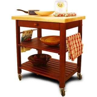 Catskill Craftsmen Roll About Cart Kitchen Island, Cherry?