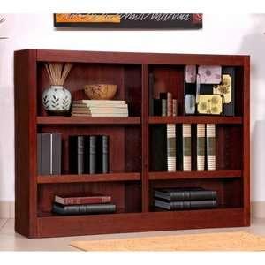 Double Wide Wood Veneer Bookcase   Cherry Furniture