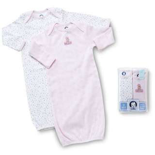 Gerber   2 Pack Infant Gowns   Newborn Girl Clothing