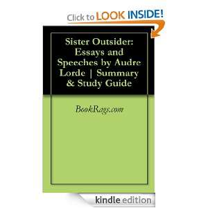 Outsider Essays and Speeches by Audre Lorde  Summary & Study Guide