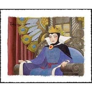 White Face of Evil Evil Queen Snow White Disney Fine Art by Toby Bluth