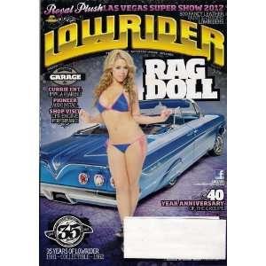 Lowrider magazine March 2012+Elle Navarro Cover+61 Rag+81 Cadillac+