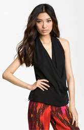 Haute Hippie Drape Neck Halter Top $235.00