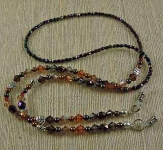 Autumn Jewels Eyeglass Holder made with Swarovski Austrian Crystals