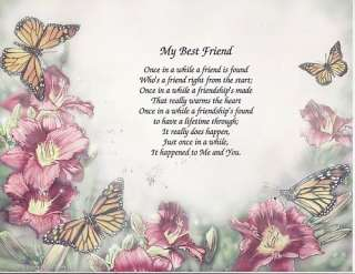 SPECIAL FRIENDS POEM PERSONALIZED NAME SUNFLOWER PRINT