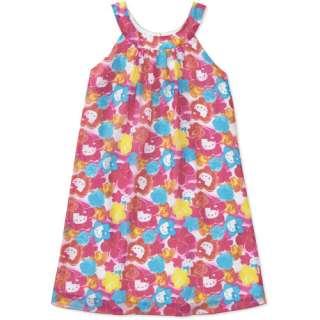 Hello Kitty   Girls Watercolor Floral Chiffon Dress