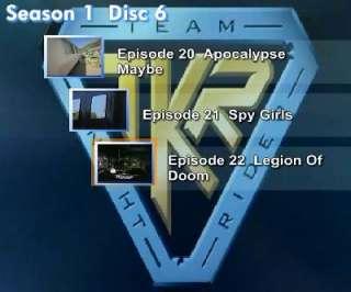 Team Knight Rider ★ Full Season DVD Disc Movie KITT