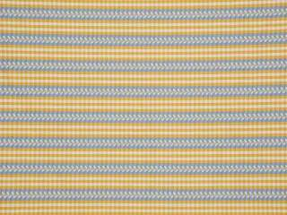 Stroheim Gold Blue French Country Gingham Upholstery Fabric 10.5x54