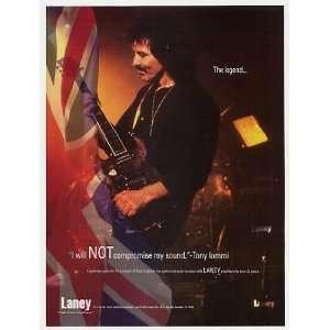 1997 Black Sabbath Tony Iommi Laney Amps Photo Print Ad