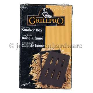 Cast Iron BBQ Grill Smoker Box 060162001505