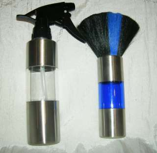 HAIR BEAUTY SALON SPRAY WATER BOTTLE AND BRUSH COMBO