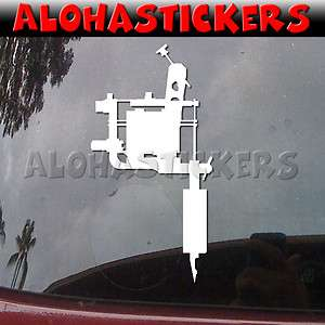 GUN MACHINE NEEDLE Car Truck Ink Laptop Vinyl Decal Window Sticker A70