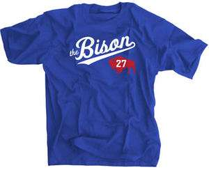 The Bison 27 Jersey Shirt Los Angeles Dodgers Funny Vintage Tee