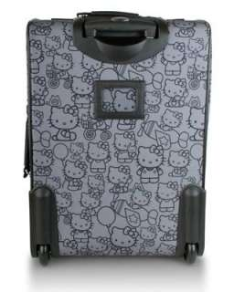 Black & White Hello Kitty Polka Dot Rolling Carry On Luggage Suitcase