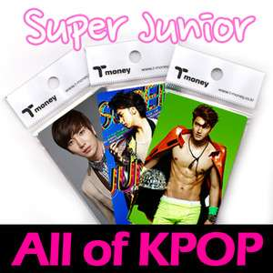 SUPER JUNIOR [ T MONEY CARD ( Pass Card for transportation) ] FREE