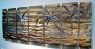 Tropical Modern Abstract Metal Wall Art Office Decor Sculpture Golden