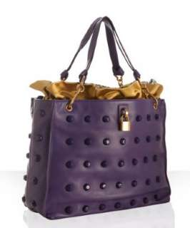 Marc Jacobs grape leather Jet studded tote
