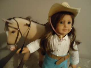 AMERICAN GIRL DOLL RETIRED NICKI NICKIE MEET OUTFIT HORSE JACKSON TACK