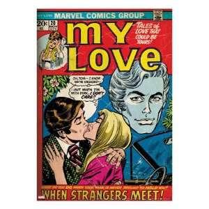 Marvel Comics Retro My Love Comic Book Cover #20, Kissing, When