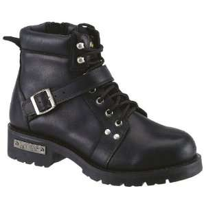 Ad Tec Mens Black Motorcycle Boots. YKK Zippers. D Width