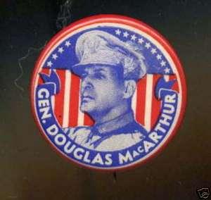 Pinback/Pin Vintage Button Gen. Douglas MacArthur