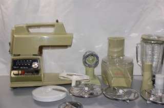 GREEN OSTER KITCHEN CENTER FOOD PROCESSOR MEAT GRINDER BLENDER