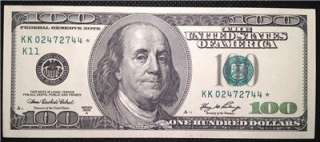 Rare 2006A (K / Dallas) $100 Dollar Bill Star Note   GEM Uncirculated