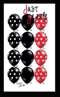 Black Red White Dot Ladybug Birthday 11 Balloon (12) Latex Mickey